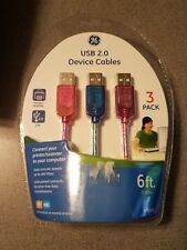 GE USB 2.0 Device Cables 3 Pack