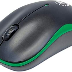 Manhattan Success Wireless Optical Mouse Green and Black