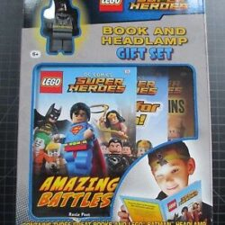 DK Lego DC Comics Super Heroes Book and Headlamp Gift Set